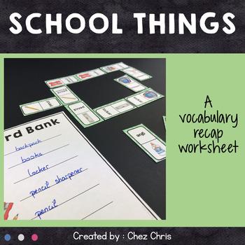 [GAME]Dominoes : school things - Set 1