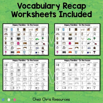 Happy Families - House Vocabulary Game