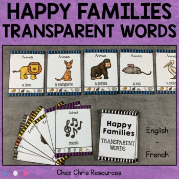 Happy Families - Transparent Words Game