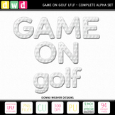 *GAME ON - GOLF LFLF* Printable Letters Numbers Sport Clip Art