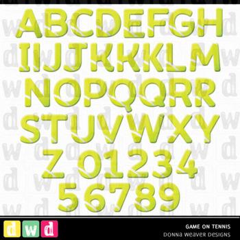 *GAME ON - TENNIS* Printable Letters Numbers Sport Clip Art LFLF