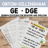 GE and DGE Orton-Gillingham Spelling Generalizations | Vir
