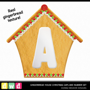 *GINGERBREAD HOUSE CHRISTMAS* Printable Christmas Food Letters Number Clip Art