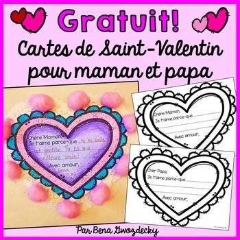 {GRATUIT!} Cartes de Saint-Valentin pour maman et papa