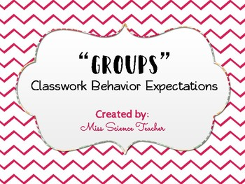 """GROUPS"" Expectations Classroom Poster"