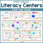 1st Grade Centers for the YEAR! {GROWING BUNDLE}