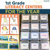 First Grade Literacy Centers | Writing | Word Work | Phonics | Winter Activities