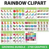 Rainbow Clipart Set - 100 Sets, Fall Clipart