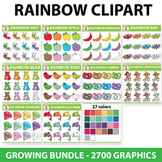 Rainbow Clipart Set - 100 Sets - Spring Clipart