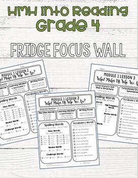 **GROWING BUNDLE** HMH Into Reading - Grade 4 - Fridge Focus Wall