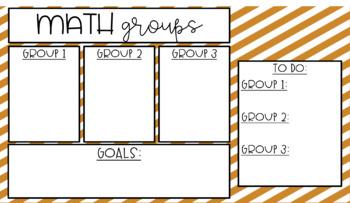 {GROWING BUNDLE} Math Group Timer Slides {Editable}