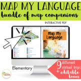 NO PRINT Map My Language Map Skills BUNDLE Virtual Trips