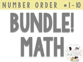 ** GROWING BUNDLE** Number Ordering 1-10