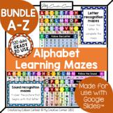 [BUNDLE] WHOLE Alphabet Digital Learning Mazes for Kindergarten