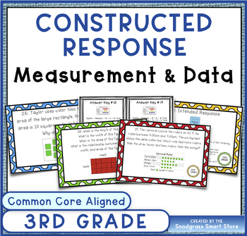 Common Core Constructed Response Problems- 3rd Measurement & Data (MD)