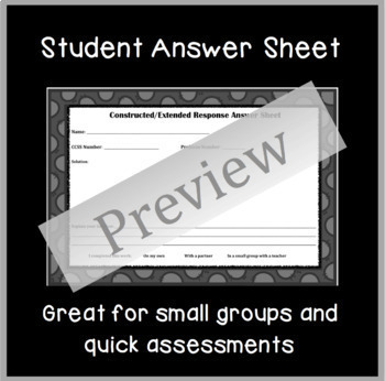 Common Core Constructed Response Problems - 4th Measurement & Data (MD)