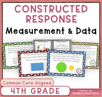 Math Constructed Response Word Problems: 4th Measurement and Data (MD)