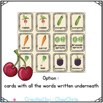 [Game] Fruit and Vegetables Memory : 42 cards