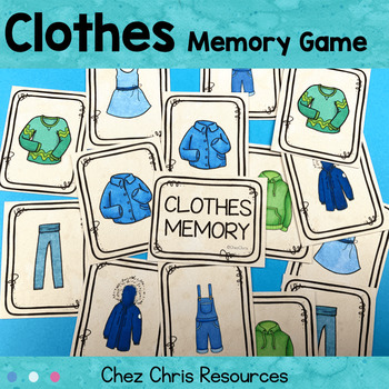 [Game]  Clothes - pieces of clothing Memory : 42 cards