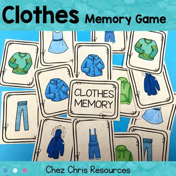 Memory Game -  Clothes Vocabulary