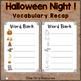 Dominoes - Halloween Night Vocabulary