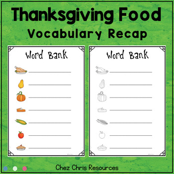 Dominoes - Thanksgiving Food Vocabulary