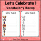 Dominoes - Celebrating Thanksgiving Vocabulary