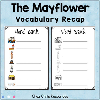 Dominoes - Thanksgiving and the Mayflower Vocabulary