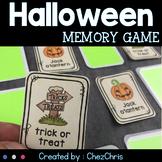Halloween Memory Game - Vocabulary
