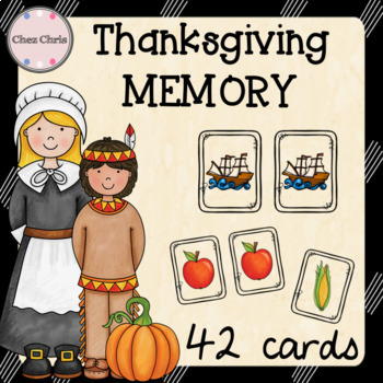 Memory Game - Thanksgiving Vocabulary