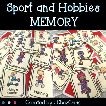 Sport and Hobbies Memory Game -  Vocabulary and Word Search
