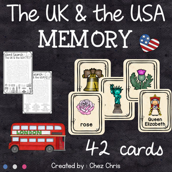 The UK and the USA Memory Game