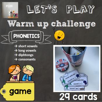 [Game] Warm up challenge - phonetics