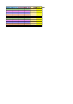 """""""Gamified"""" PSA Excel Leader-board Spreadsheet"""