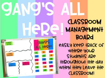 """Gang's All Here"" Board - Pastel Rainbow (Editable!)"