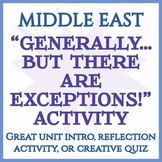 """""""Generally...But There are Exceptions!"""" Activity -- Middle East and North Africa"""