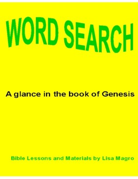 Genesis Word Search
