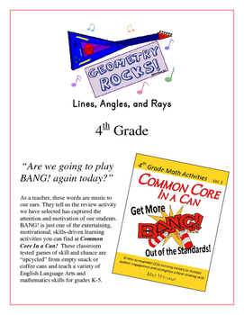 """Geometry Rocks!"" Lines & Angles 4th Grade Common Core Game Packet"