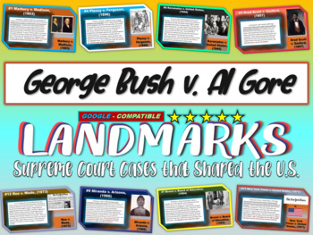 -George Bush v. Al Gore- Landmark Supreme Court Case (PPT,
