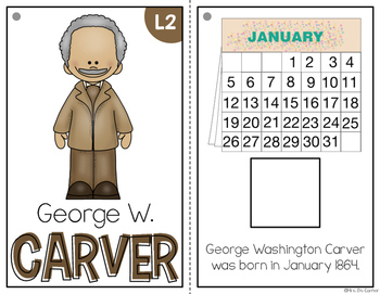 { George Washington Carver } Black History Month Adapted Book Set