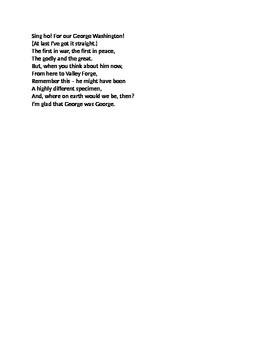 """George Washington"" Poem Core Knowledge"