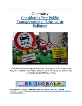 (German Culture) BUNDLE-  German Air Pollution Articles and Guides (5 Articles)