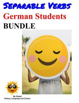 (German Language) BUNDLE- Simple Separable Verbs Practice Games /Presentations