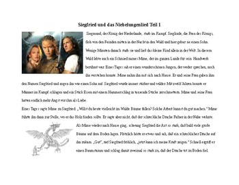 (German Language) Nibelungenlied - Shorted Story and Resources