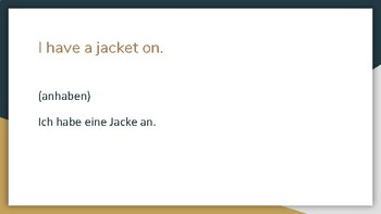 (German Language) Simple Separable Verbs Practice #2 - Game / Presentation