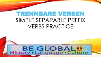 (German Language) Simple Separable Verbs Practice #1 - Game / Presentation