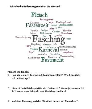 (German Language) Was ist Fasching? Karneval, Fastnacht, Carnival Germany