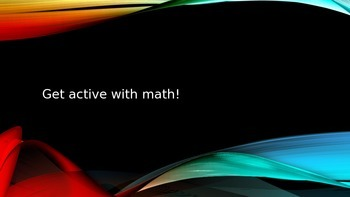 """Get Active with Math!"" Energizer"