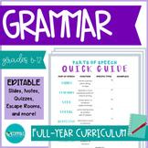 Grammar Curriculum | GROWING BUNDLE #DistanceLearningTpT