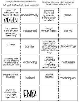 """Get Lost! The Puzzle of Mazes"" Vocabulary Dominoes"